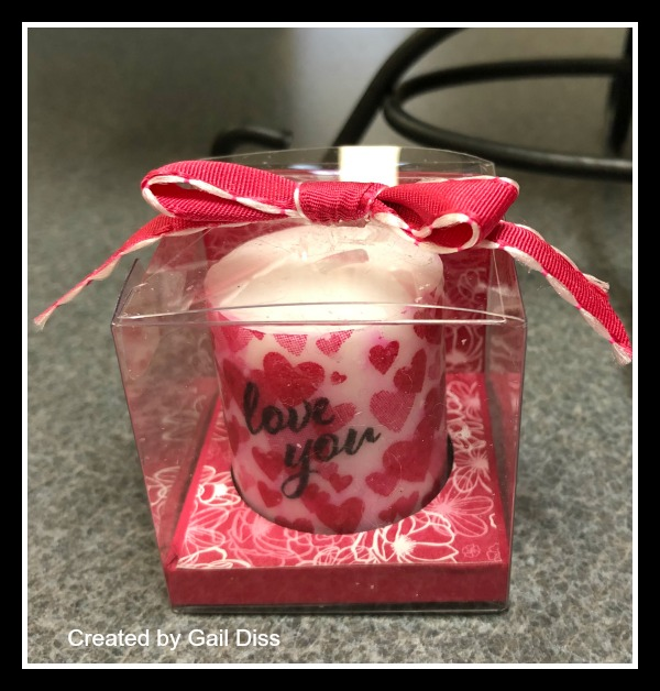 Stampin' Up! All My Love Suite, Valentine's Candle,, Stampin' Studio