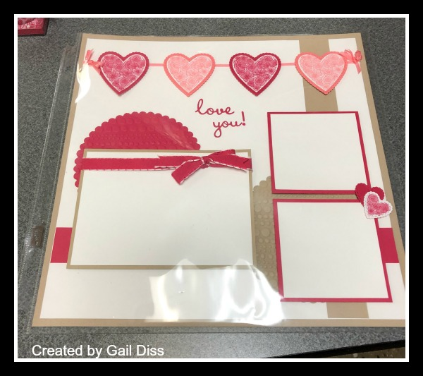 Stampin' Up! All My Love Suite, Valentine's Scrapbook Pages, Stampin' Studio