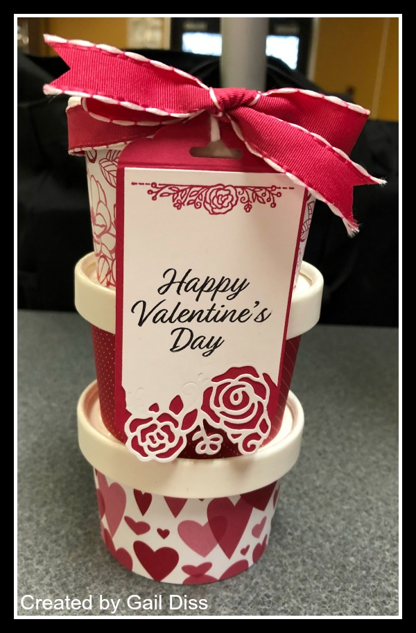 Stampin' Up! All My Love Suite, Valentine's Sweet Cups, Treat containers, Stampin' Studio