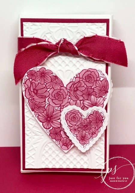 Stampin' Up! Meant to be stamp set, Be Mine Stitched Framelits, Valentine Treat Holder, Stampin' Up!
