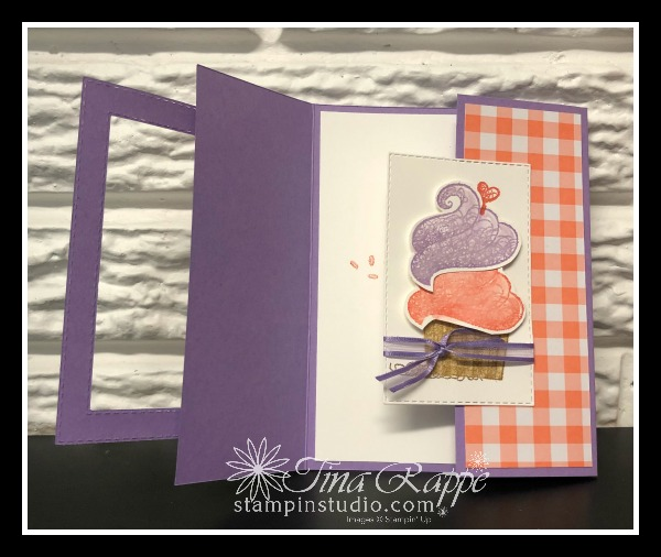 Stampin' Up! Hello Cupcake, Gingham Gala DSP, Fun Folds, Stamp Crop & Cruise Retreat, Stampin' Studio