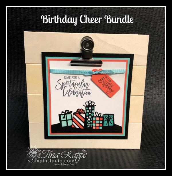 Stampin' Up! Stampin' Sisters Retreat 2019, Birthday Cheer stamp set, Detailed Birthday Edgelits, Stampin' Studio