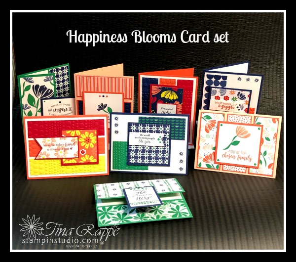 Stampin Up! Bloom by Bloom stamp set, Happiness Blooms Suite, Stampin' Sisters Retreat, Stampin' Studio