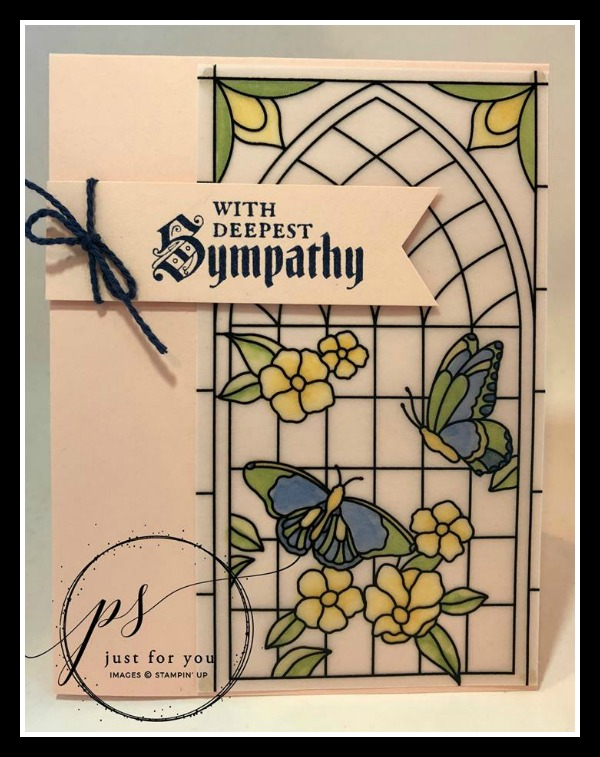 Stampin' Up! Painted Glass stamp set, Graceful Glass Suite, Stampin' Studio