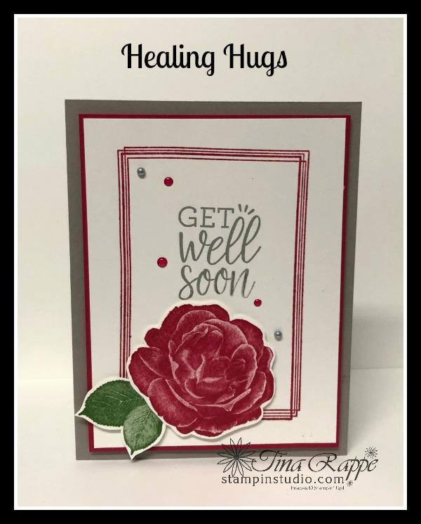 Stampin' Up! Healing Hugs stamp set, Swirly Frames stamp set, Stampin' Studio