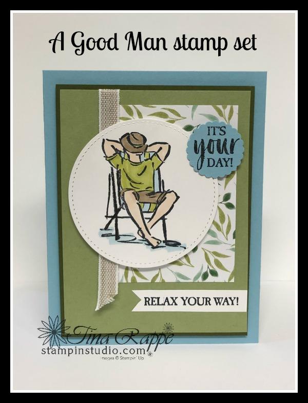 Stampin' Up! A Good Man stamp set, Stampin' Studio