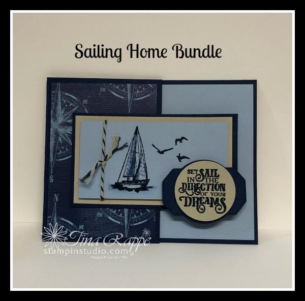 Stampin' Up! Sailing Home Bundle, Sailing Home stamp set, Smooth Sailing Dies, Come Sail Away DSP, Stampin' Studio