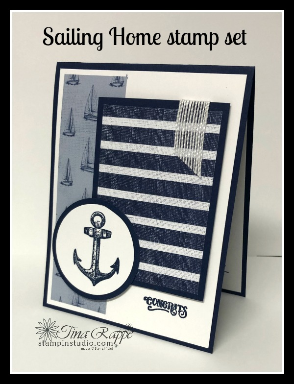 Stampin' Up! Sailing Home stamp set, Come Sail Away DSP, Stampin' Studio