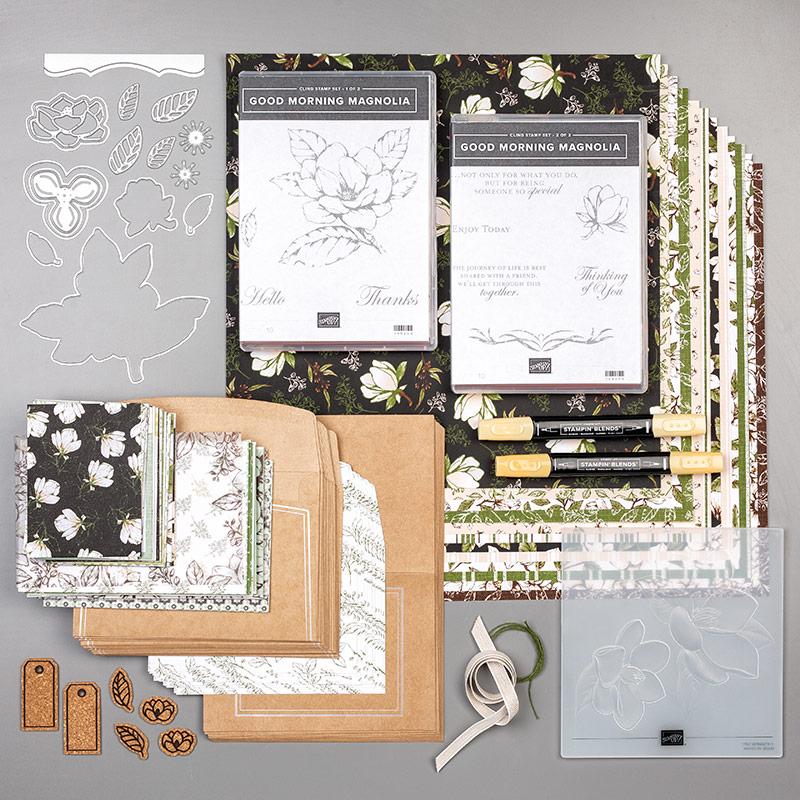 Stampin' Up! Magnolia Lane Suite, Good Morning Magnolia stamp set, Magnolia Memory Dies, Magnolia Lane DSP, Stampin' Studio