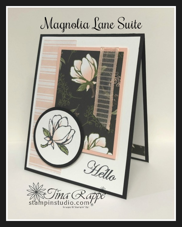 Stampin' Up! Magnolia Lane Suite, Good Morning Magnolia stamp set, Magnolia Lane DSP, Stampin' Studio