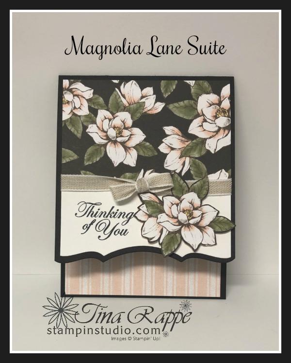 Stampin' Up! Magnolia Lane Suite, Good Morning Magnolia stamp set, Magnolia Memory Dies, Magnolia Lane DSP, Stampin' Studio