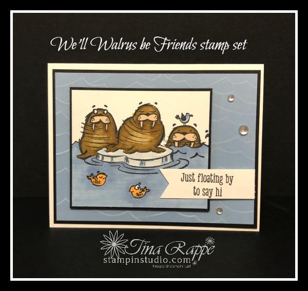 Stampin' Up! We'll Walrus be Friends stamp set, Stampin' Blends, Stampin' Studio