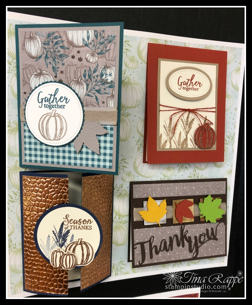 Stampin' Up! Come to Gather Suite, Gather Together stamp set, Gathered Leaves Dies, Stampin' Sisters Holiday Hoopla, Stampin' Studio