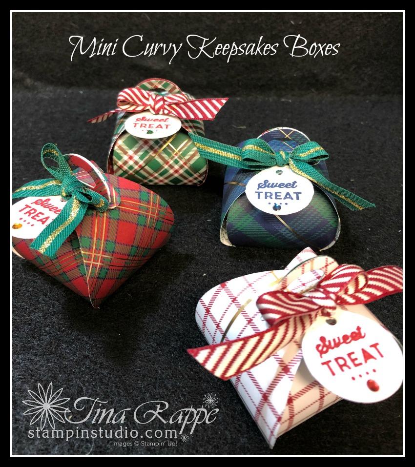 Stampin' Up! Tiny Keepsakes Bundle, Mini Curvy Keepsakes Dies, Stampin' Sisters Holiday Hoopla, Stampin' Studio