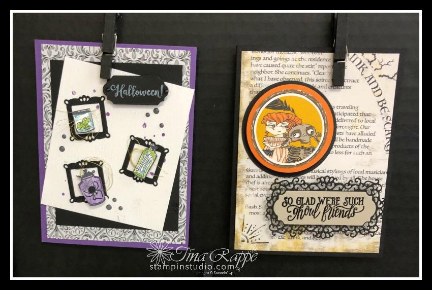 Stampin' Up! Monster Bash Suite, Spooktacular Bash stamp set, Ornate Frames Dies, Stampin' Sisters Holiday Hoopla, Stampin' Studio