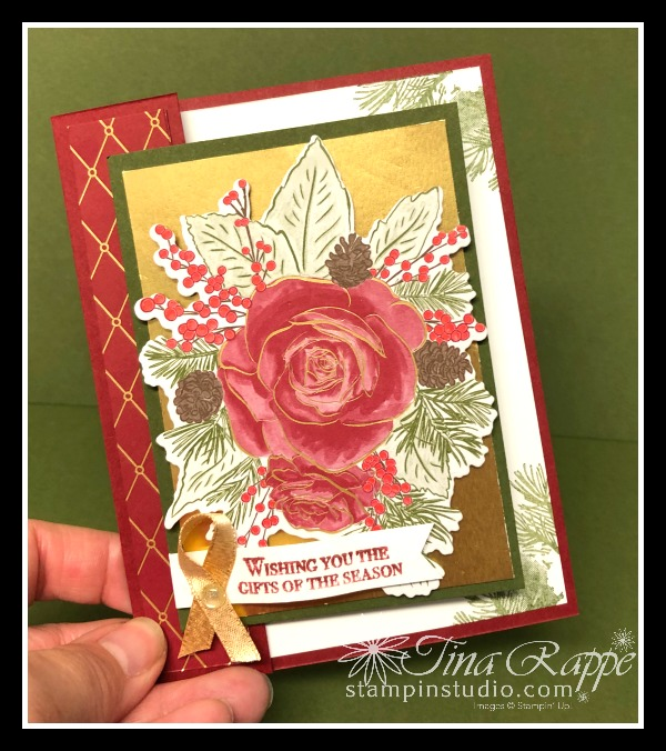 Stampin' Up! Christmastime is Here Suite, Christmas Rose Bundle, Fun Fold, Stampin' Studio