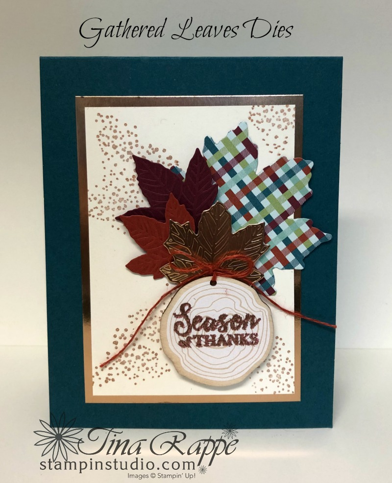 Stampin' Up! Gather Together stamp set, Gathered Leaves Dies, Tags & Feathers Elements, Stampin' Studio