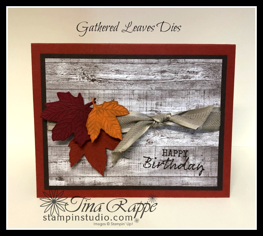 Stampin' Up! Gather Together stamp set, Gathered Leaves Dies, Come to Gather DSP, Stampin' Studio