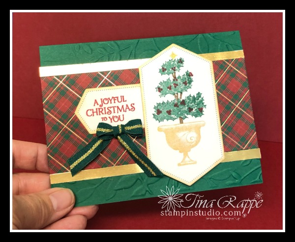 Stampin' Up! Beauty & Joy stamp set, Wrapped in Plaid DSP. Stampin' Studio