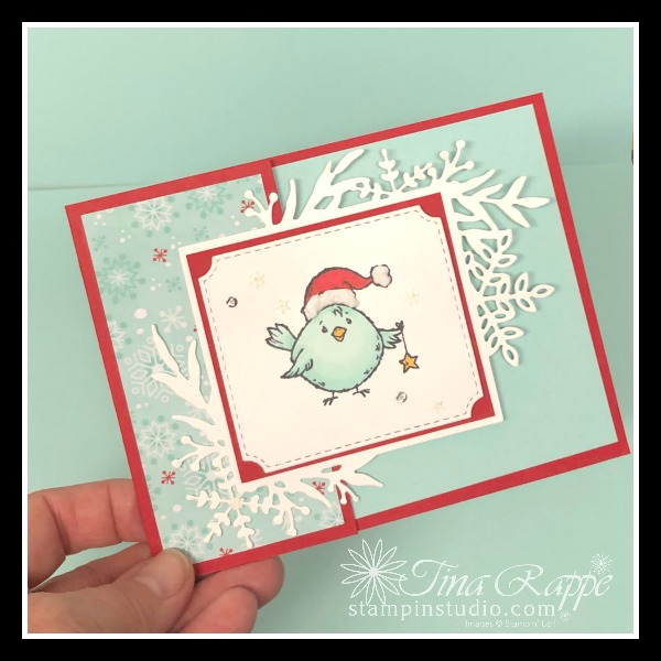 Stampin' Up! Birds of a Feather stamp set, Fun Fold Card, Stampin' Studio