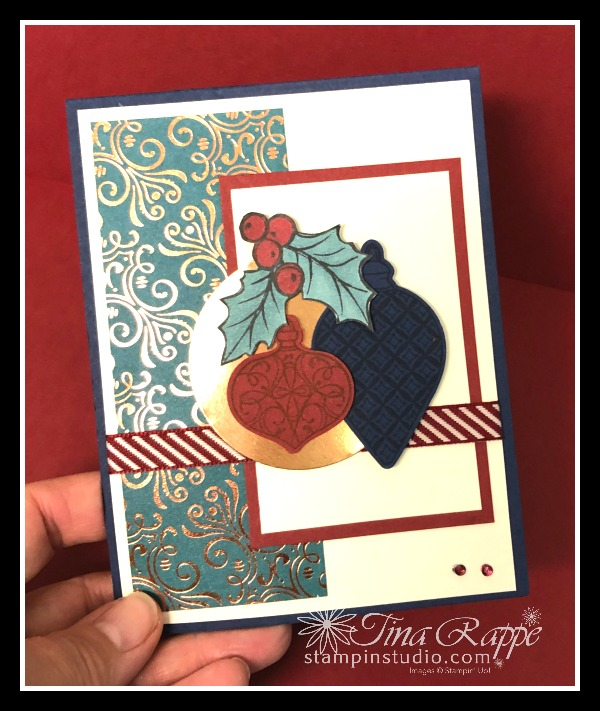 Stampin' Up! Christmas is Gleaming stamp set, Brightly Gleaming Suite, Gleaming Ornaments Punch Pack, Stampin' Studio