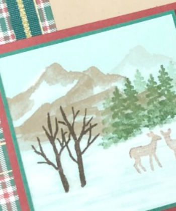 Stampin' Up! Snow Front stamp set, Wrapped in Plaid DSP,Stampin' Studio
