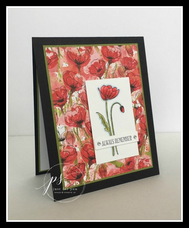 Stampin' Up! Painted Poppies stamp set, Stampin'; Studio