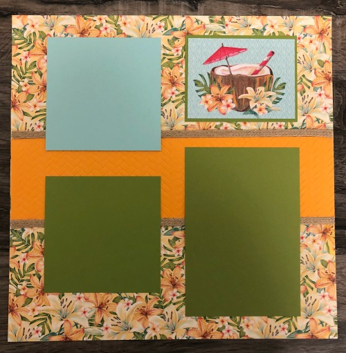 """Stampin"""" Up! Scrapbook Pages, Tropical Oasis DSP, Stamp Crop & Cruise, Stampin Studio"""