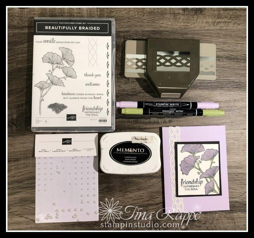 Stampin' Up! Beautifully Braided stamp set, Braided Border Punch, Stampin' Studio