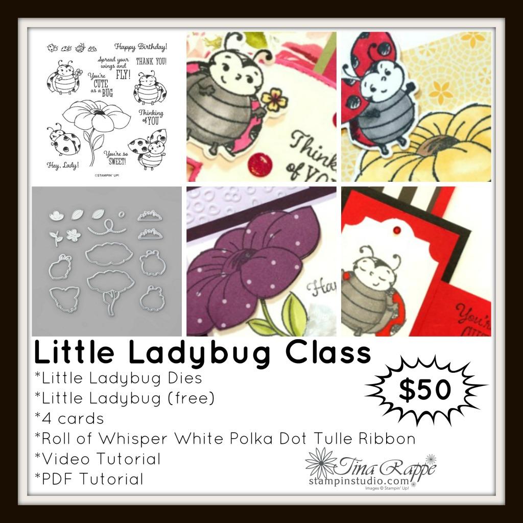 Stampin' Up! Little Ladybug stamp set, Ladybug Dies, Stampin' Studio
