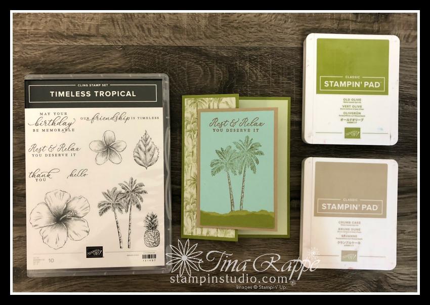 Stampin' Up! Timeless Tropical stamp set, Stampin' Studio