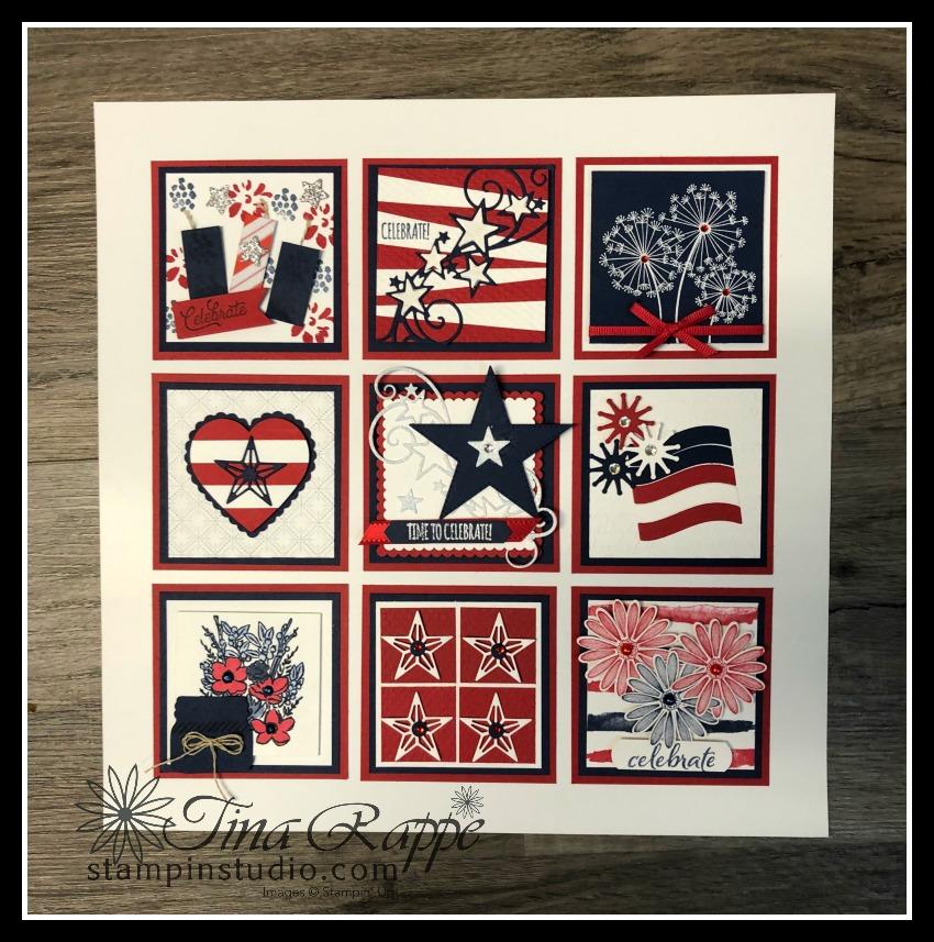 Stampin' Up! 4th of July Framed Art Sampler, Stampin' Studio